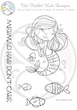 Mermaid Hair Clear Stamp Set 3x4