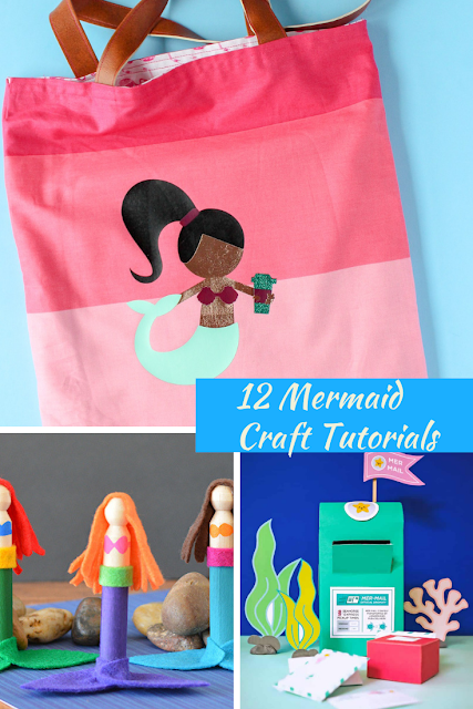 Mermaid craft tutorials