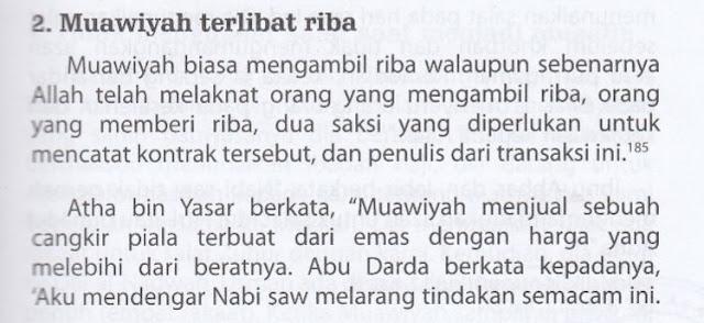 Syiah Menuduh Muawiyah Gemar Mengambil Riba