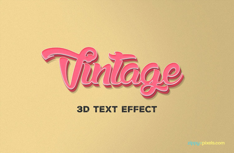Free PSD 3D Text Effect