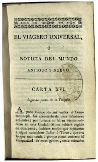 """""""El viagero universal ó Noticia del mundo antiguo y nuevo"""". Tomo 2"""