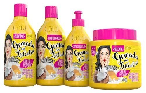 #Testei: Shampoo e Condicionador Gemada com Leite de Coco (Gota Dourada)