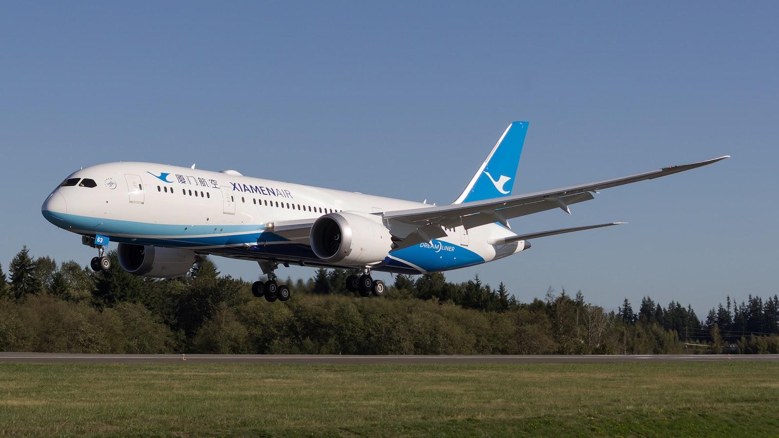 B-2763 B787-8 Xiamen Air Ferried to Everett from Charleston