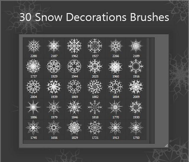 30 Brush Dekorasi Salju