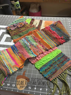 Jean Peter Designs Mixed Media Handwoven Wool Scarves OOAK Artisans