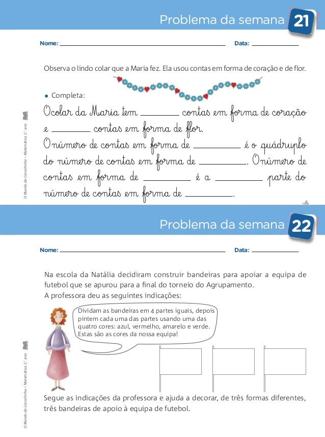 Caderno De Problemas 2º Ano Atividades De Matematica