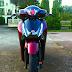 Sơn xe Honda SH màu đỏ mận