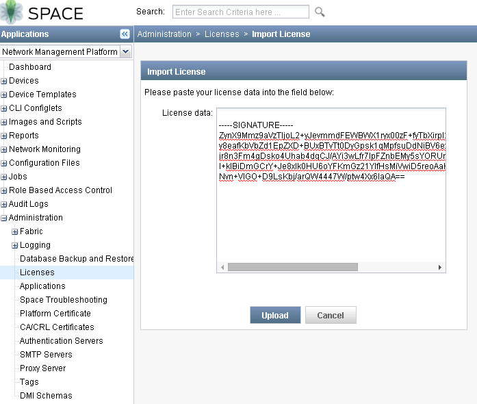 JunOS Space Network Management Platform Basic Configuration