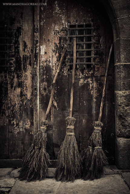 Aker Dantzaria Witch Broomsticks Berwick Zugarramurdi and Salem Besom Brooms by Victoria Francés