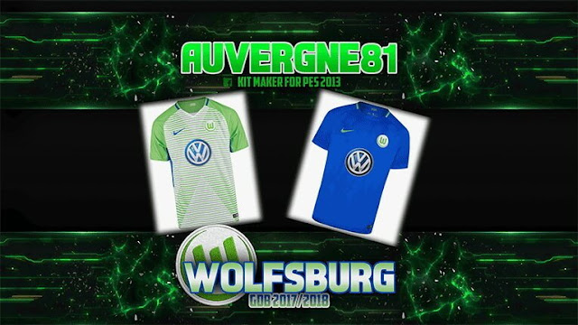 Wolfsburg Kit 2017-18 PES 2013
