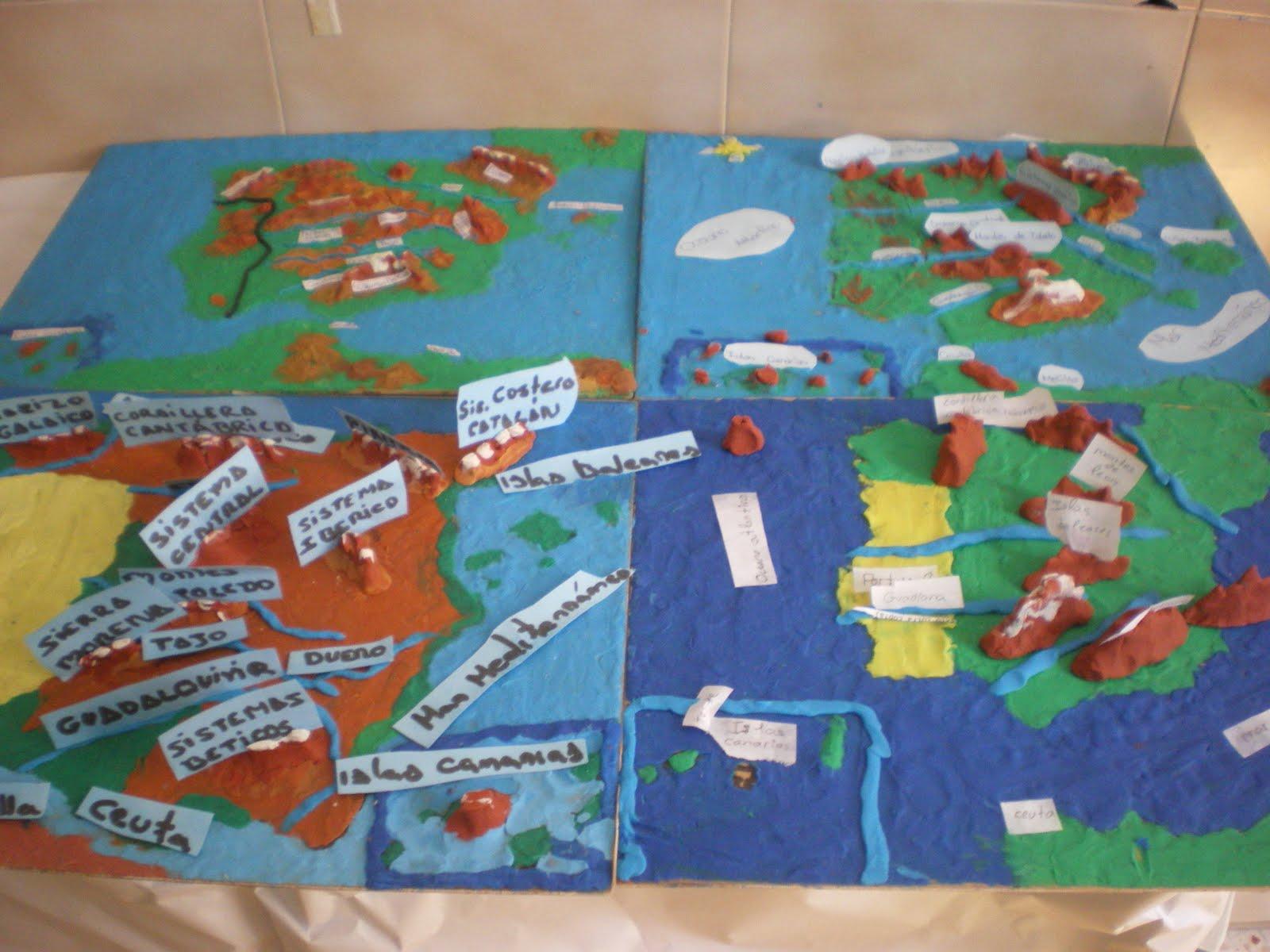 Muñecos Hechos De Papel Muestran Diversidad De Ecuador: Elrincondelasmilcositas: MAPAS CON PLASTILINA