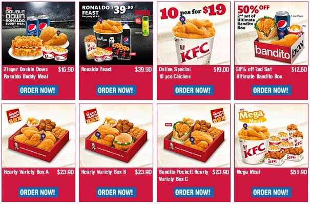 kfc menu and price list latest singapore 2018 - fast food menu & prices