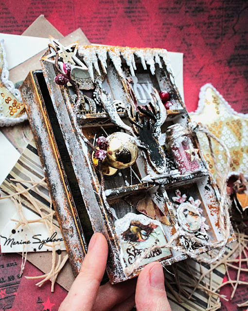 [ Altered door ] @marinasyskova #scrapbooking #alteredart @7dotsstudio #altereddoor