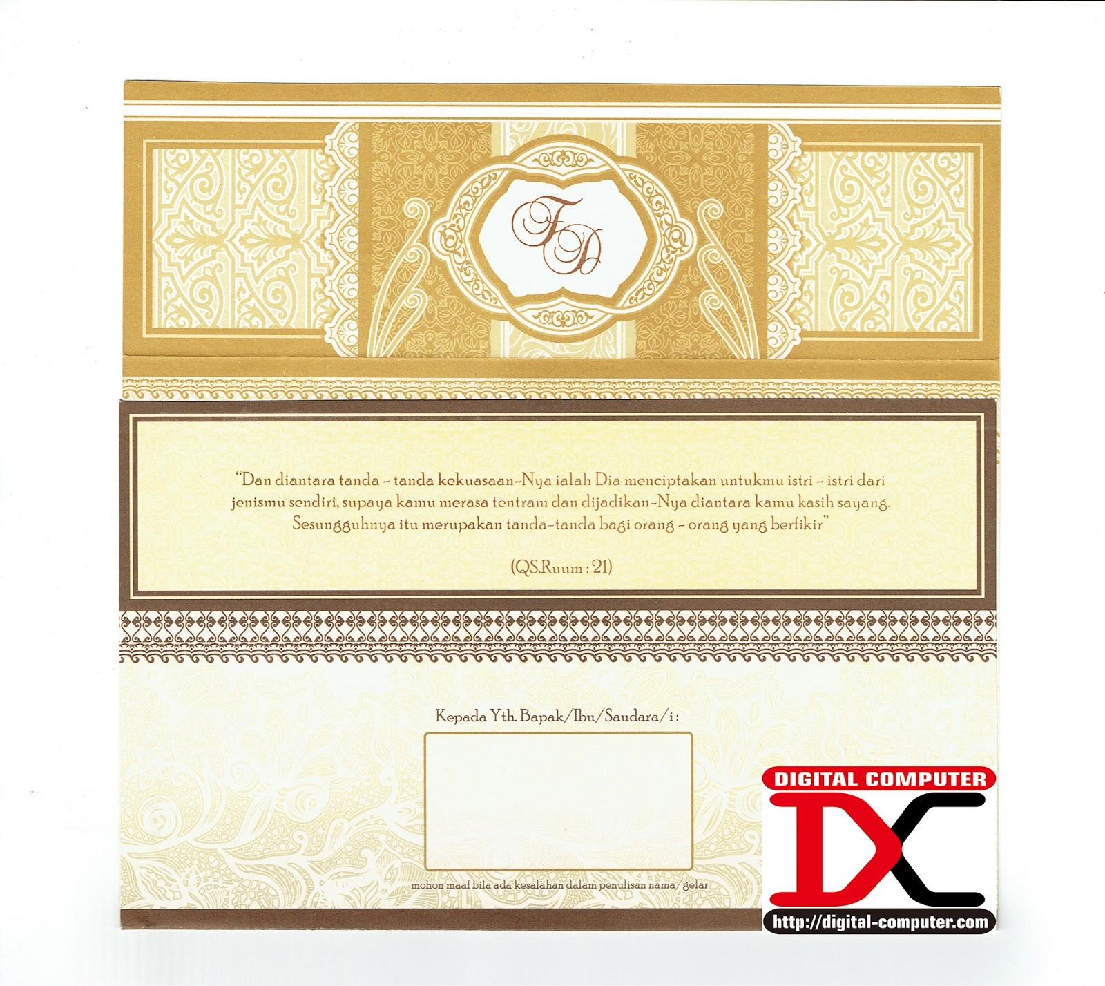undangan pernikahan harga 2200 rupiah