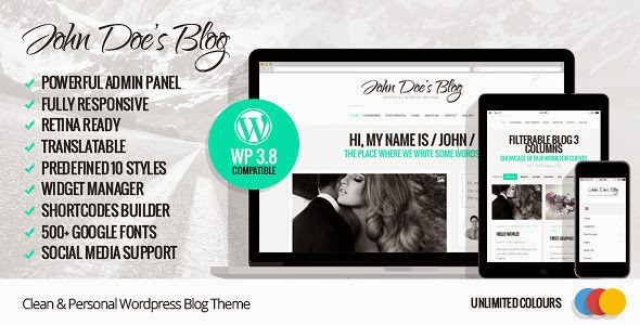premium WordPress template 2014