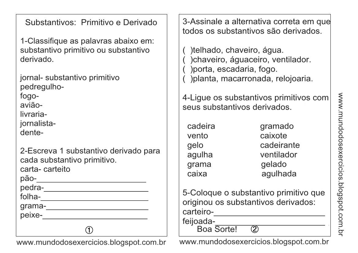 O Que E Substantivo Abstrato Exemplos Kingsbur Info -> Atividades Com Substantivos Simples E Composto 4 Ano
