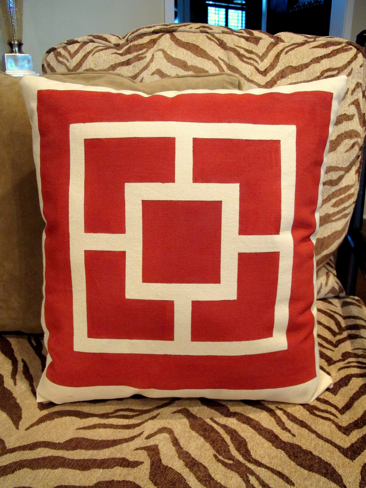 Screen Print Paint And Tape Gorgeous Pillows
