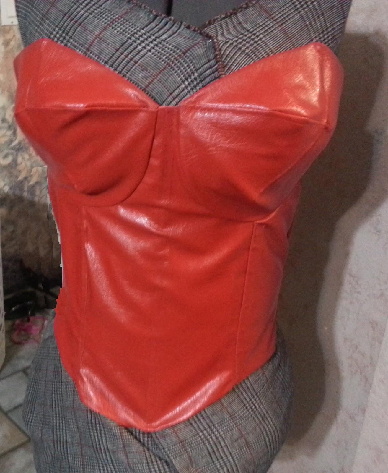 Red Corset Top Wonder Woman