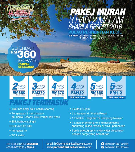 Pakej Pulau Perhentian Kecil 2016 , 2017 , 2018