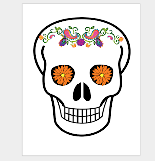 an example sugar skull