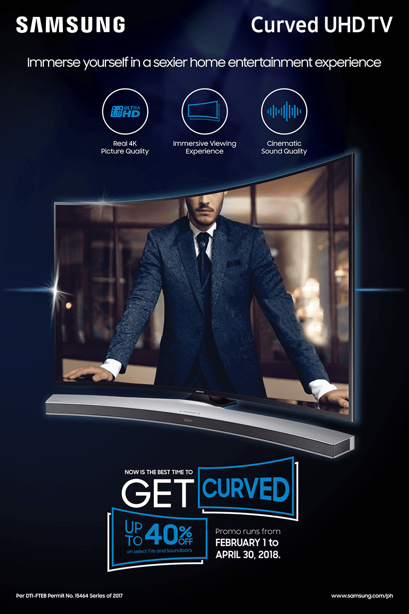 Samsung Curved TVs are on a special promo!
