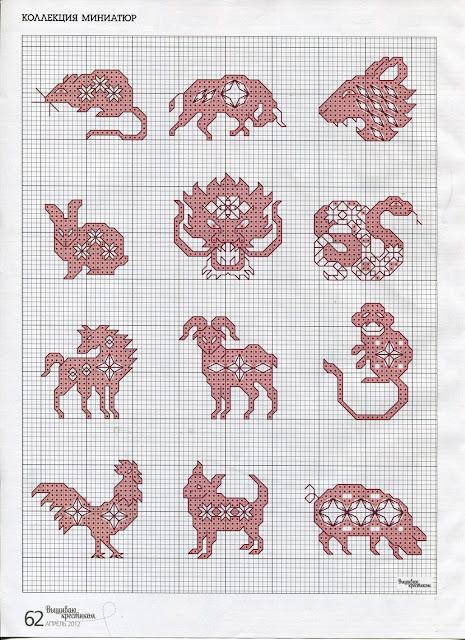 punto de cruz patrones para descargar gratis del horóscopo chino