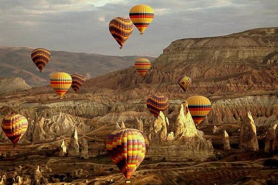 Volar en globo en la Capadoccia. Turquia