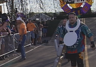 WCW Road Wild 1998: That toilet seat is a good indication of how shit Dancing Fools vs. Public Enemy really was