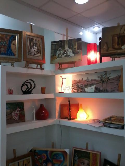 Préparatifs de l'expo de l'atelier artémisia 20