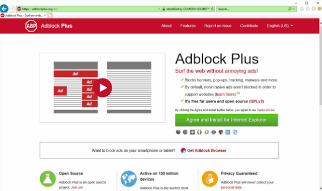 How to block ads on YouTube in Internet Explorer