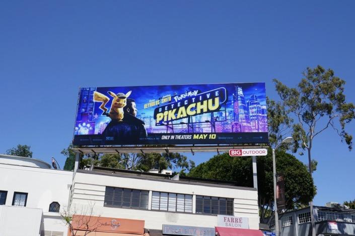 Pokémon Detective Pikachu billboard