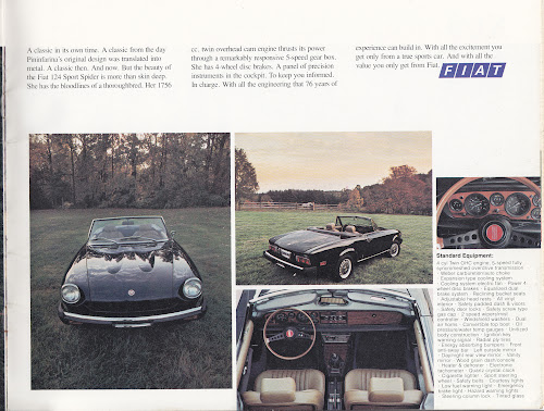 1975 Fiat 124 Sport Spider Brochure