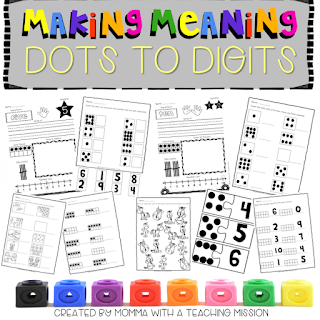 https://www.teacherspayteachers.com/Product/Dots-to-Digits-Making-Meaning-of-Numbers-2801536