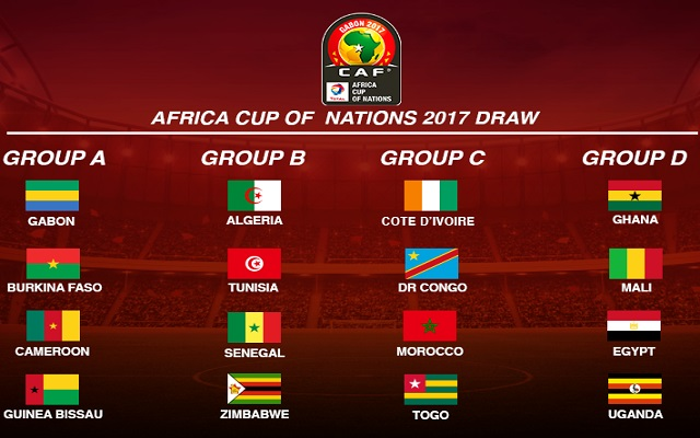World-Wide Football Matches Schedule, AFCON 2017