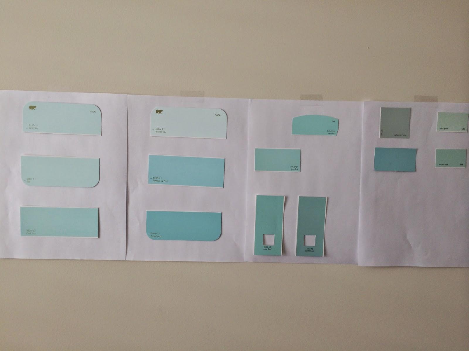 Shades Of Aqua Paint Painting The Nursery Laforce Be