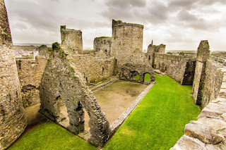 Kidwelly Castle Pembrokeshire Coastal Path Wales