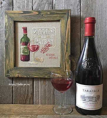 Cuvee du patron, Veronique Enginger, бутылка вино, вышивка крестом, DFEA №51