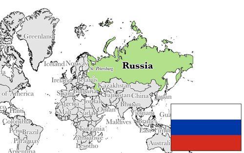 peta batas wilayah rusia