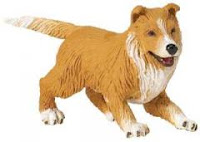 Collie Puppy Toy Dog Figurine Mini