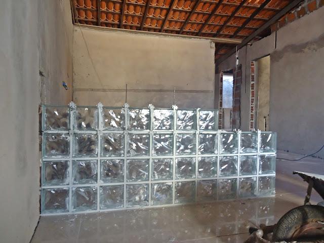 balcão de bloco de vidro