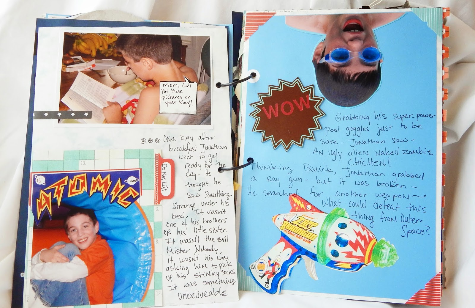 Dapoppins, scrapbook, scrapbook for boys