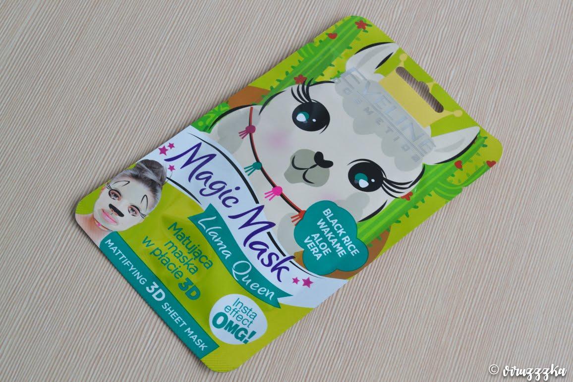 Eveline Cosmetics Magic Mask Llama Queen Mattifying Sheet Mask Naprobu Review