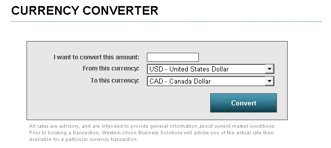 Western Union Currency Converter