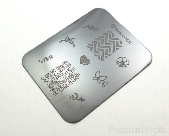 Stamping plate from the Essence Nail Art Stampy Set