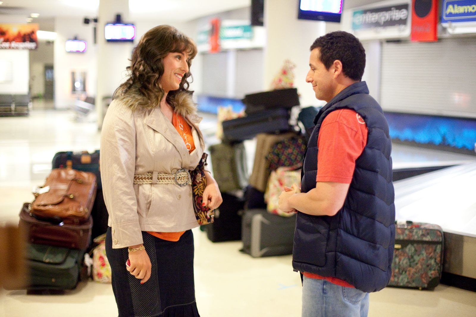 0a9c0d034d The cast was a pick of Sandler's best friend's list. Sandler was great in  the movie playing both parts. The crazy part was how good and a bit normal  he ...
