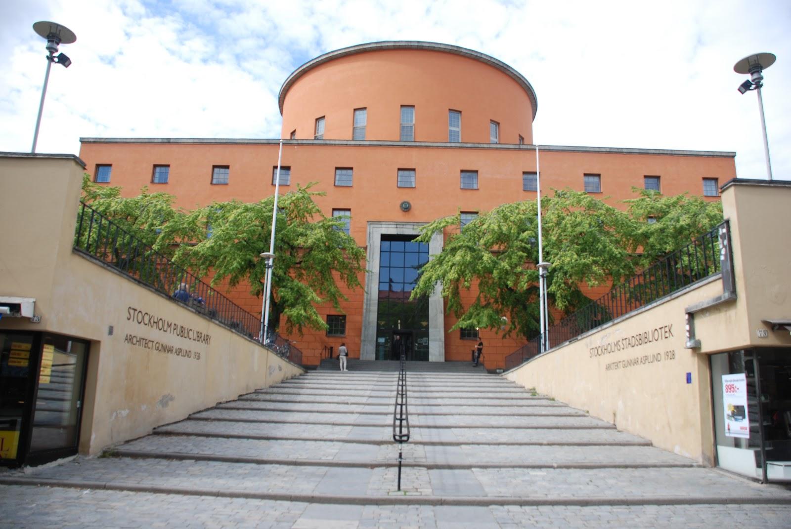 podium stair, Stockholm Public Library - Gunnar Asplund