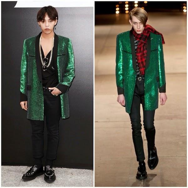 What's he wearing?: G-Dragon in Saint Laurent - Paris ...  What's he w...