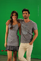Kriti Sanon & Sushant Singh Rajput Pos During Promotional Interview For Raabta .COM 0005.jpg
