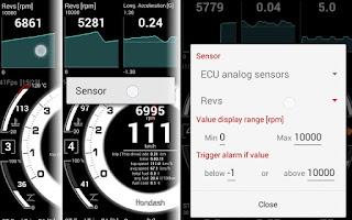 hondash app touch gesture sensor assignment