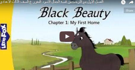 تحميل مذكرة الجمال الاسود black beauty المقررة على الصف الثالث الاعدادي المنهج الجديد 2017 -2018